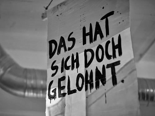 """Element der Ausstellung """"Nein"""" von Anna McCarthy (Gewinnerin des Förderpreises 2014 des Kunstclub13) Foto: Alescha Birkenholz für PLATFORM"""